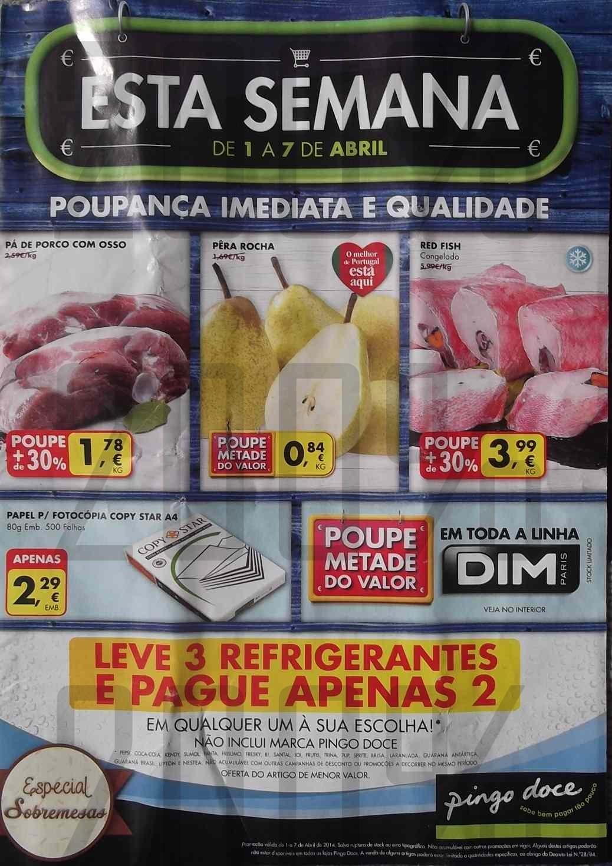 Antevisão folheto PINGO DOCE de 1 a 7 abril