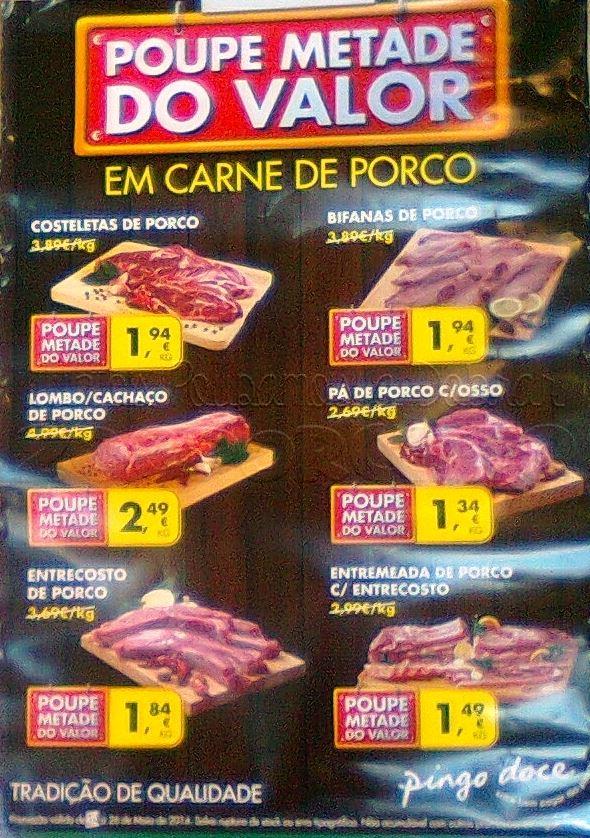 50% de desconto imediato PINGO DOCE Carne de Porco até 26 maio - Fot