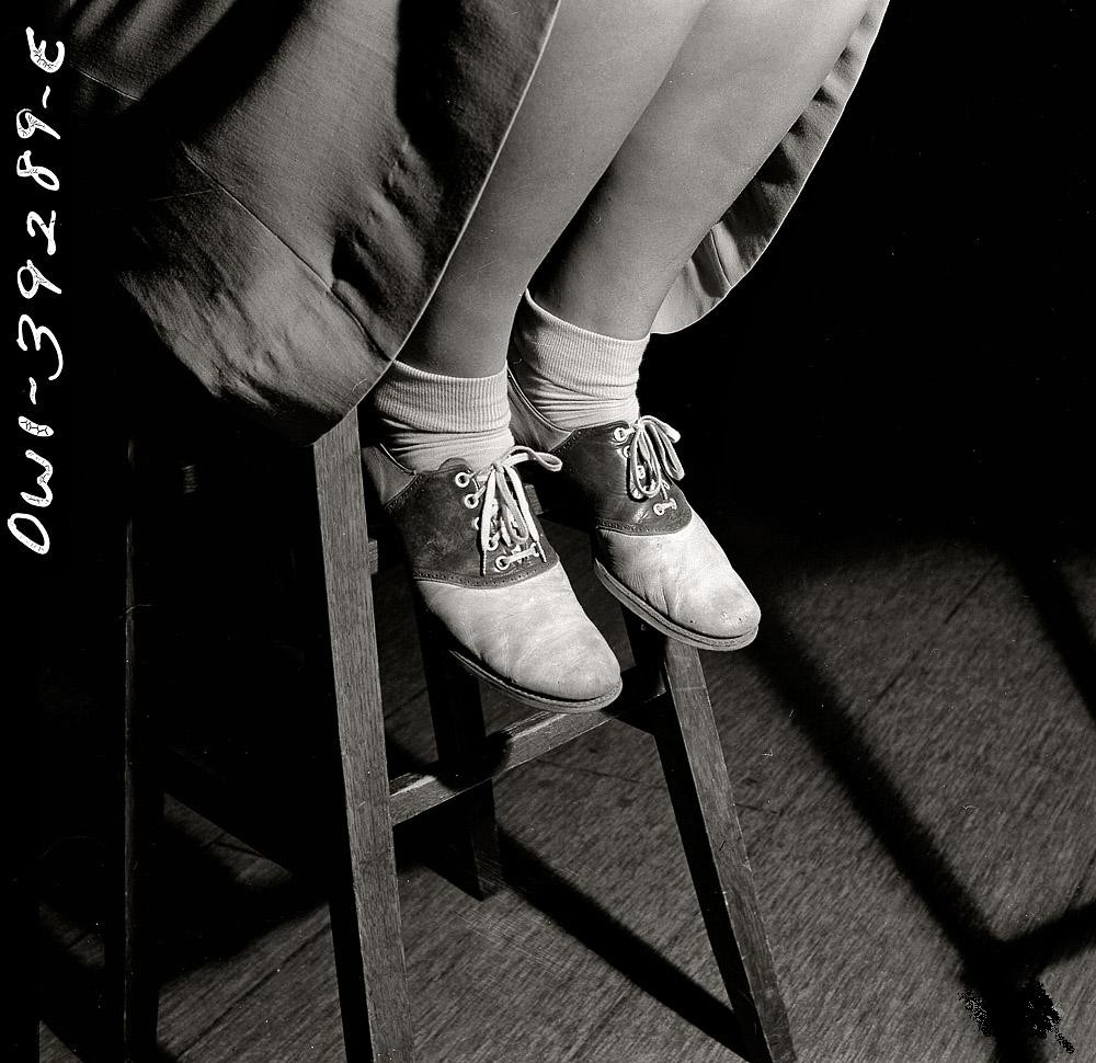 October 1943 Washington, DC Saddle shoes are still popular at Woodrow Wilson High School.jpg