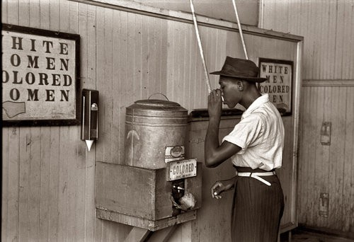 July 1939 - at a water cooler in an Oklahoma City street car terminal.jpg