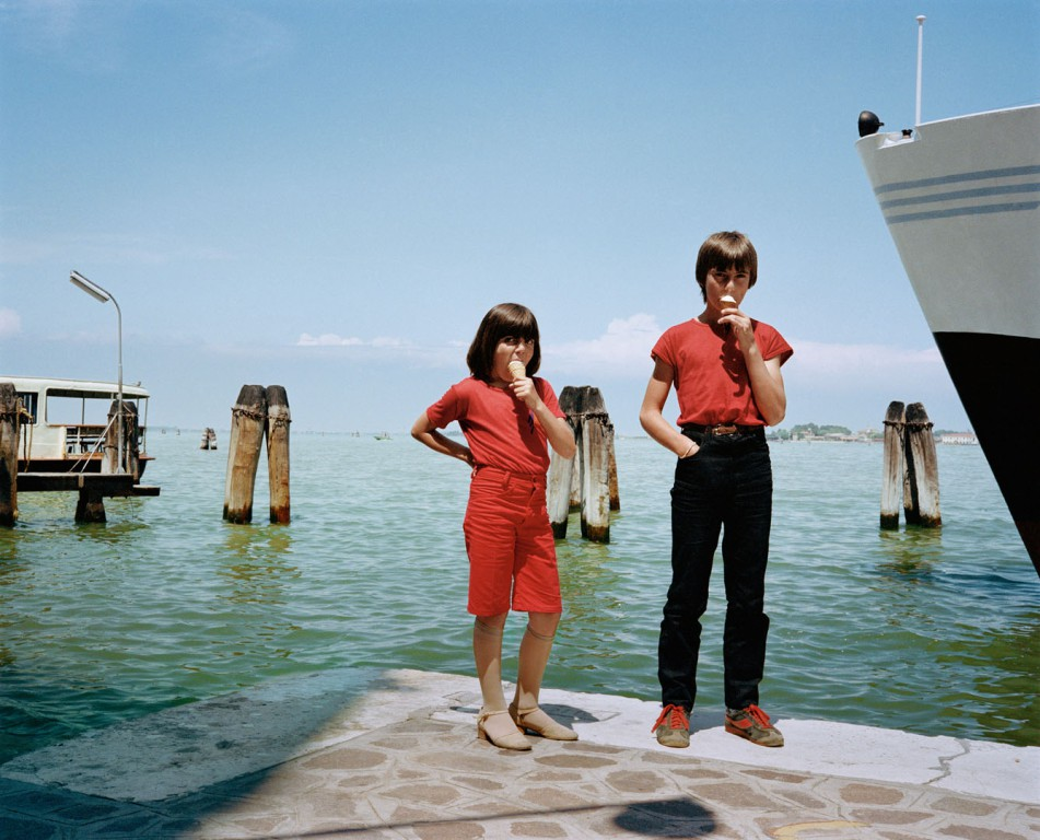 Kids in red with ice cream Venice 1981 Dolce Via series Charles H. Traub.jpg