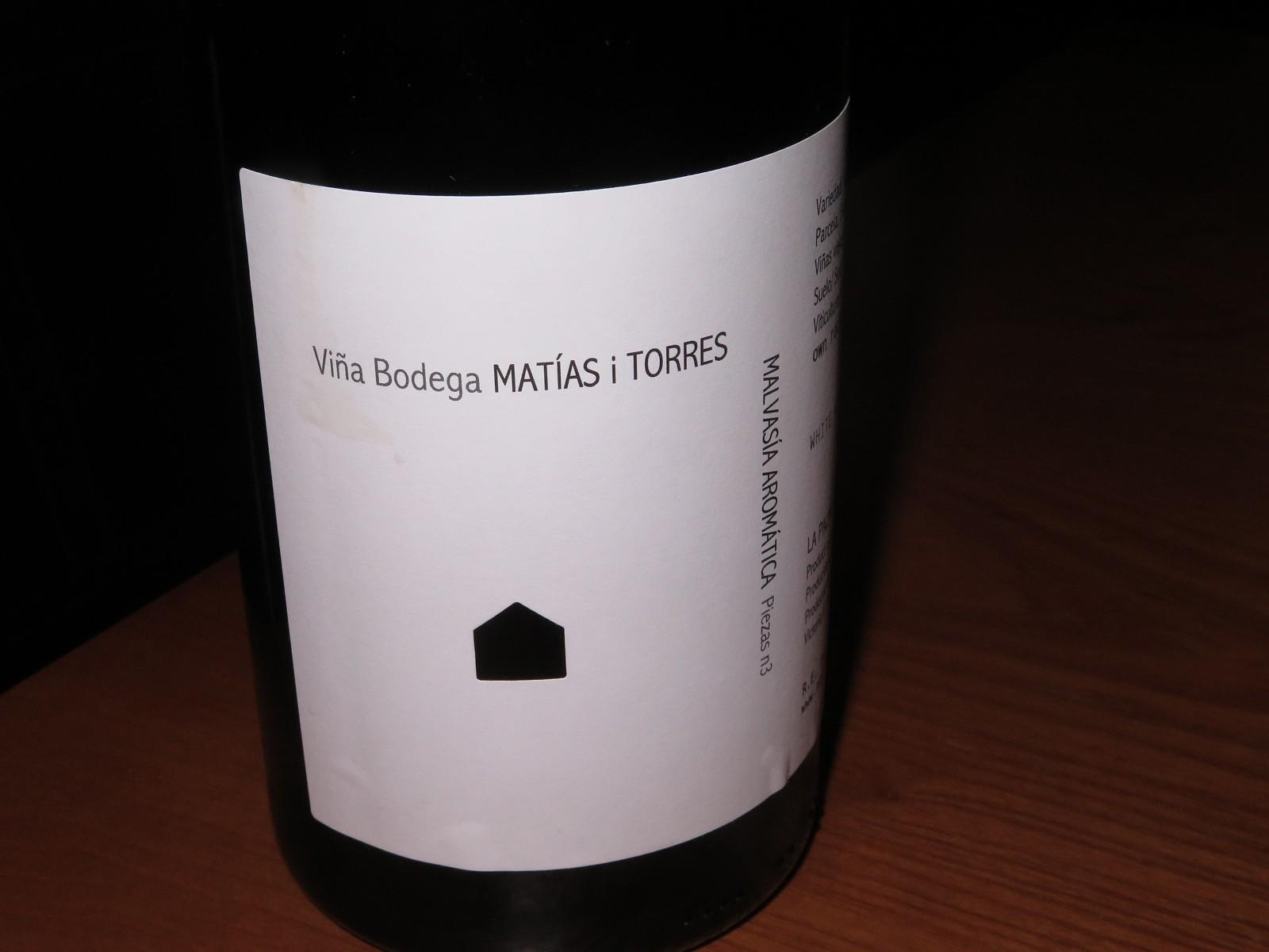Matías i Torres, Malvasía Aromática, branco, 2015