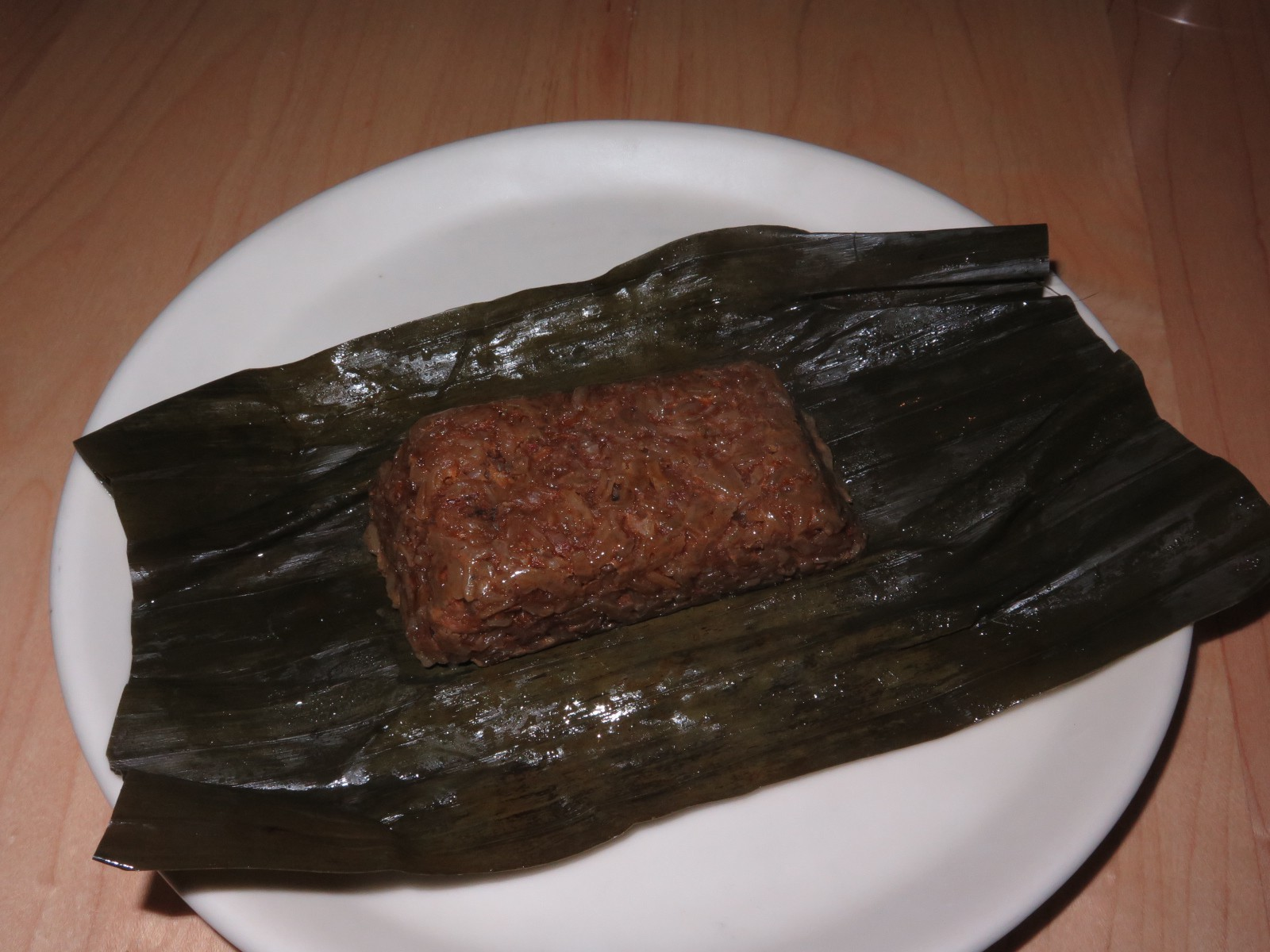 Sticky Rice Tamal with Red Chile Duck