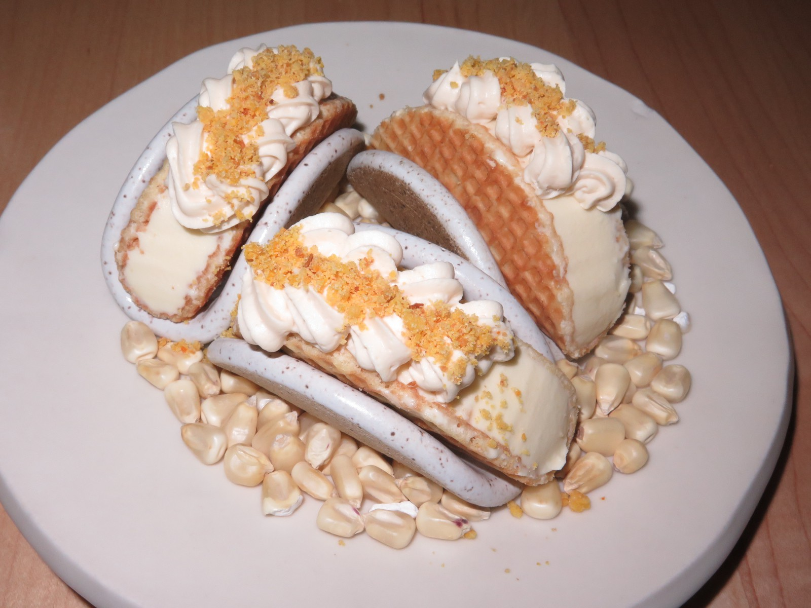 Corn Ice Cream Tacos