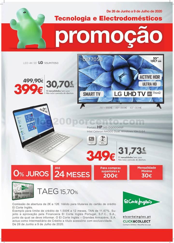 Antevisão Folheto EL CORTE INGLÉS Tecnologia Promoções de 26 junho a 9 julho p1.jpg