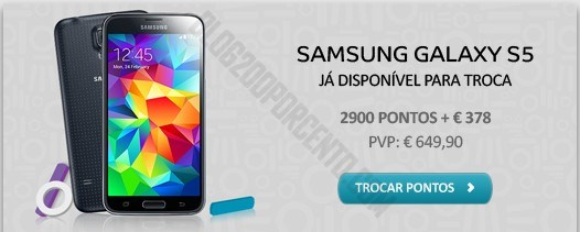 Novo Samsung Galaxy S5   MEO   disponivel para troca de pontos