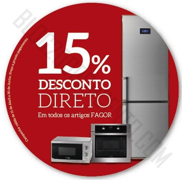 15% de desconto | JOM | Produtos Fagor até 30 junho