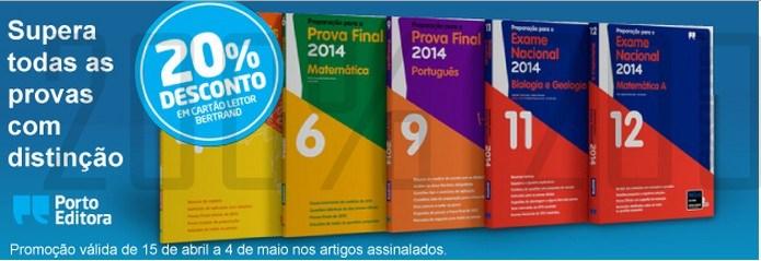 20% de desconto   BERTRAND   até 4 maio - Porto Editora