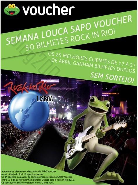 Semana louca | SAPO VOUCHER | 50 bilhetes para o Rock in Rio