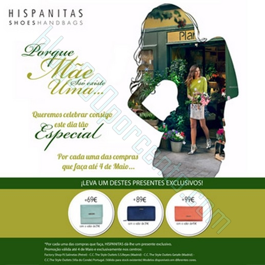 Ofertas | THE STYLE OUTLETS | Hispanitas - Dia da Mãe