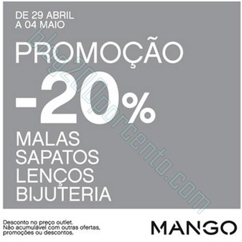 20% de desconto extra | THE STYLE OUTLETS | Mango