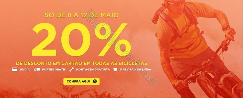 20% de desconto | SPORT ZONE | de 8 a 12 maio -Bicicletas
