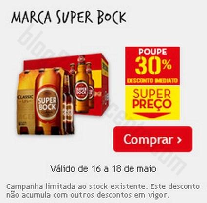 30% de desconto | CONTINENTE | dias 16 a 18 maio - Super Bock