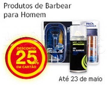 25% de desconto CONTINENTE até 23 maio - Produtos Barbear