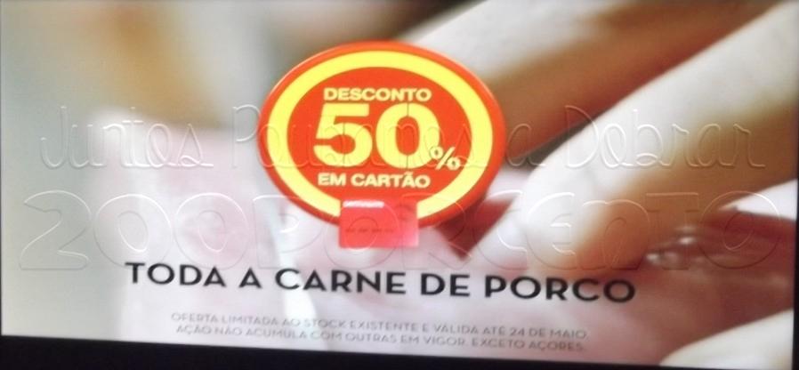 50% de desconto CONTINENTE Carne de Porco até 24 maio