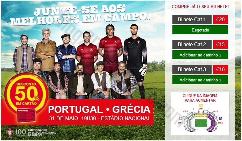 50% de desconto em cartão CONTINENTE - Portugal x Grécia