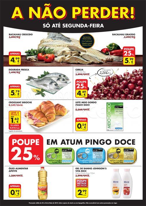 Novo folheto PINGO DOCE - A não perder até 26 maio