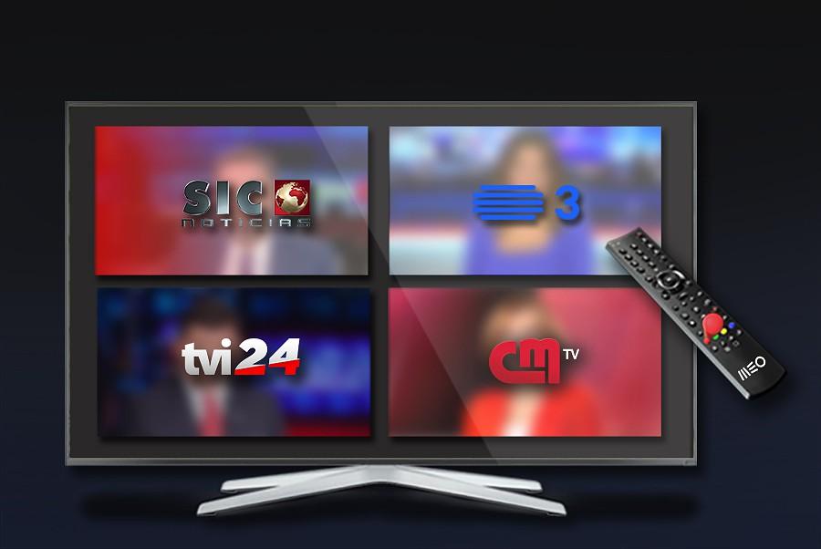 TV do MEO com emissões em simultâneo