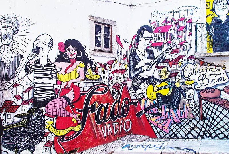 Mural no Centro Histórico de Lisboa