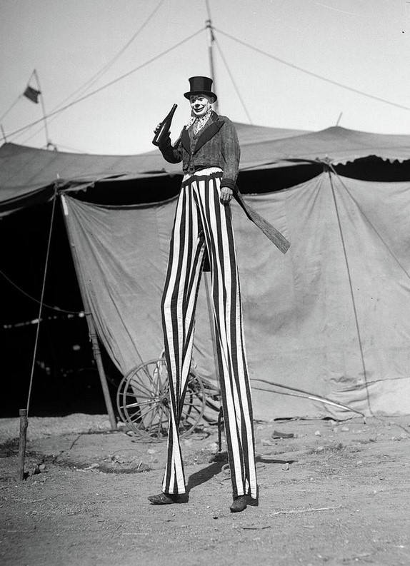 1930s Circus Performer Smiling Clown.jpg