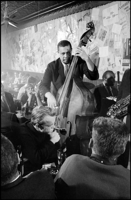 9 Charles Mingus and Horace Parlan playing at the Five Spot while Orson Welles listens.jpg