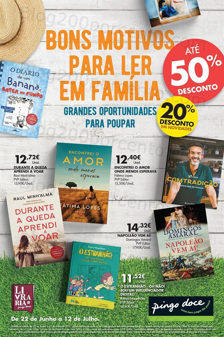 Antevisão Folheto PINGO DOCE Especial Bazar Livros 22 junho
