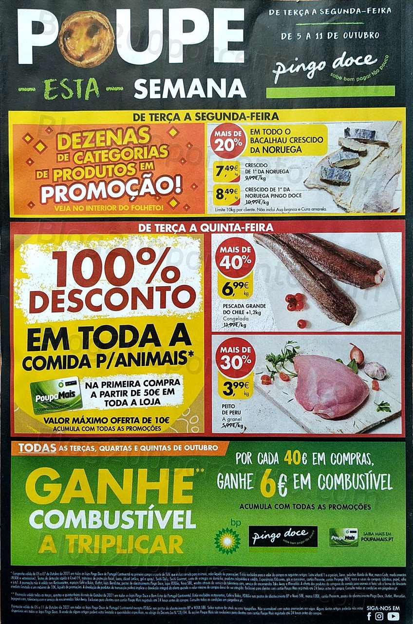 Antevisão Folheto PINGO DOCE Promoções de 5 a 11 outubro