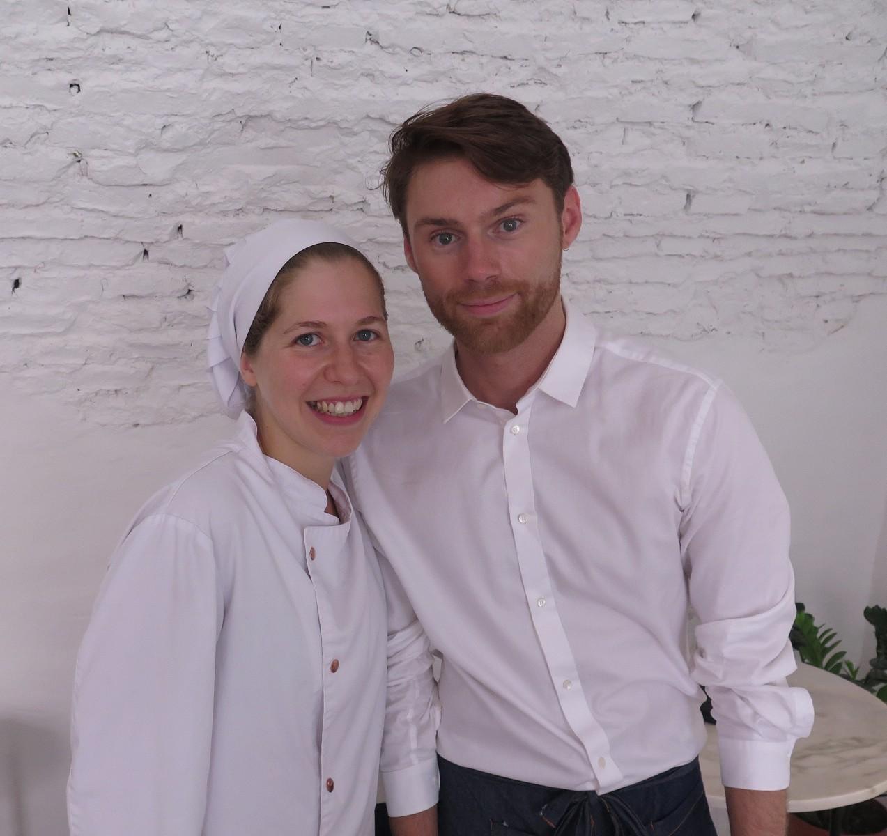 Chef Raquel Patronilho e empresário Julien Garrec