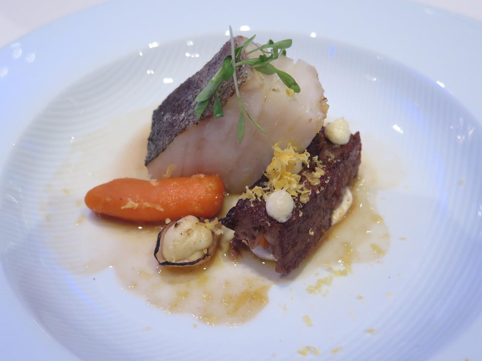 Francisco Miranda – Bacalhau salgado seco da Noruega, terrina de porco e gema de ovo curada