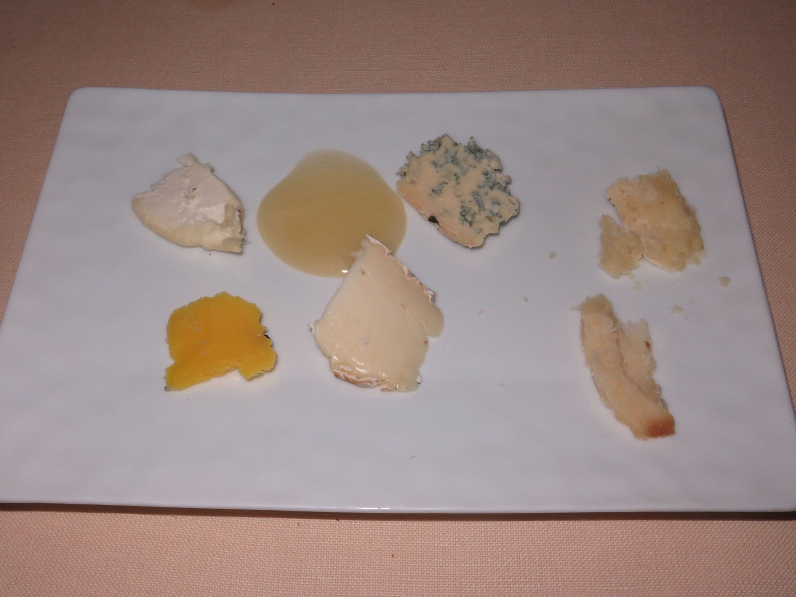 A fine selection of cheese from the trolley
