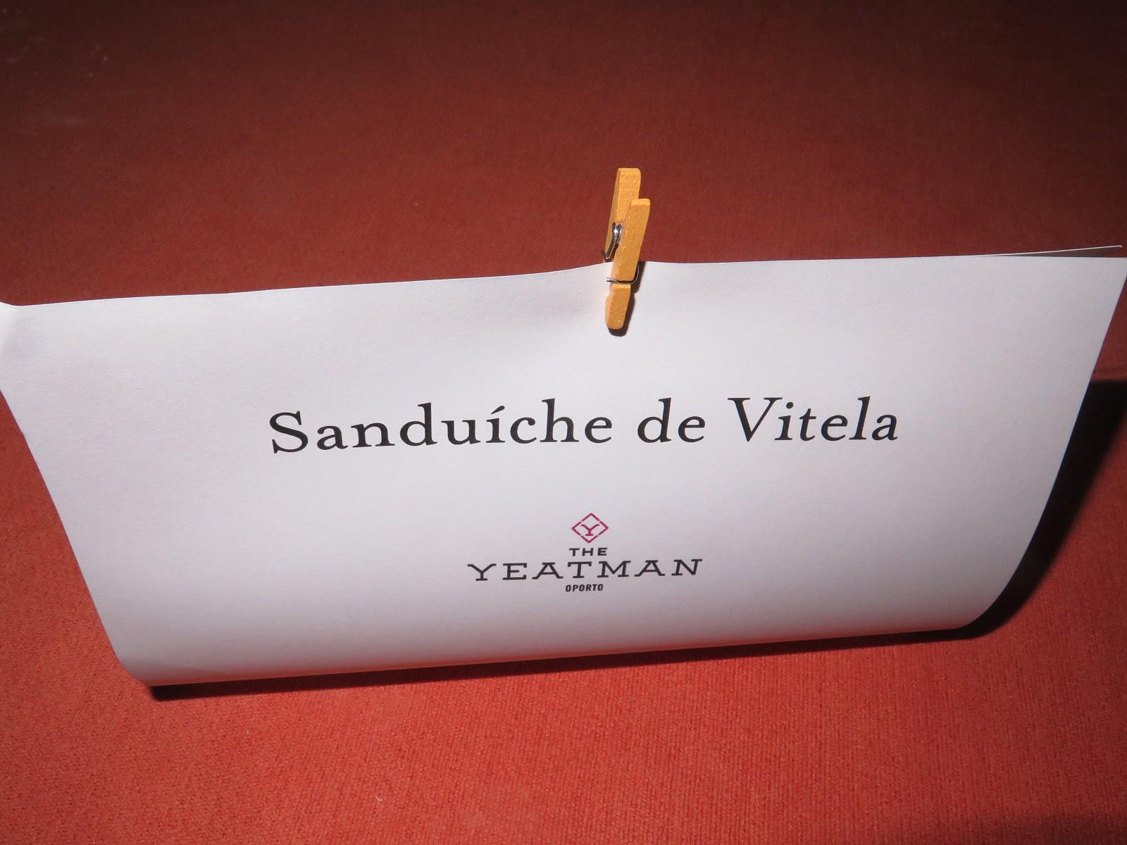 Sanduíche de Vitela