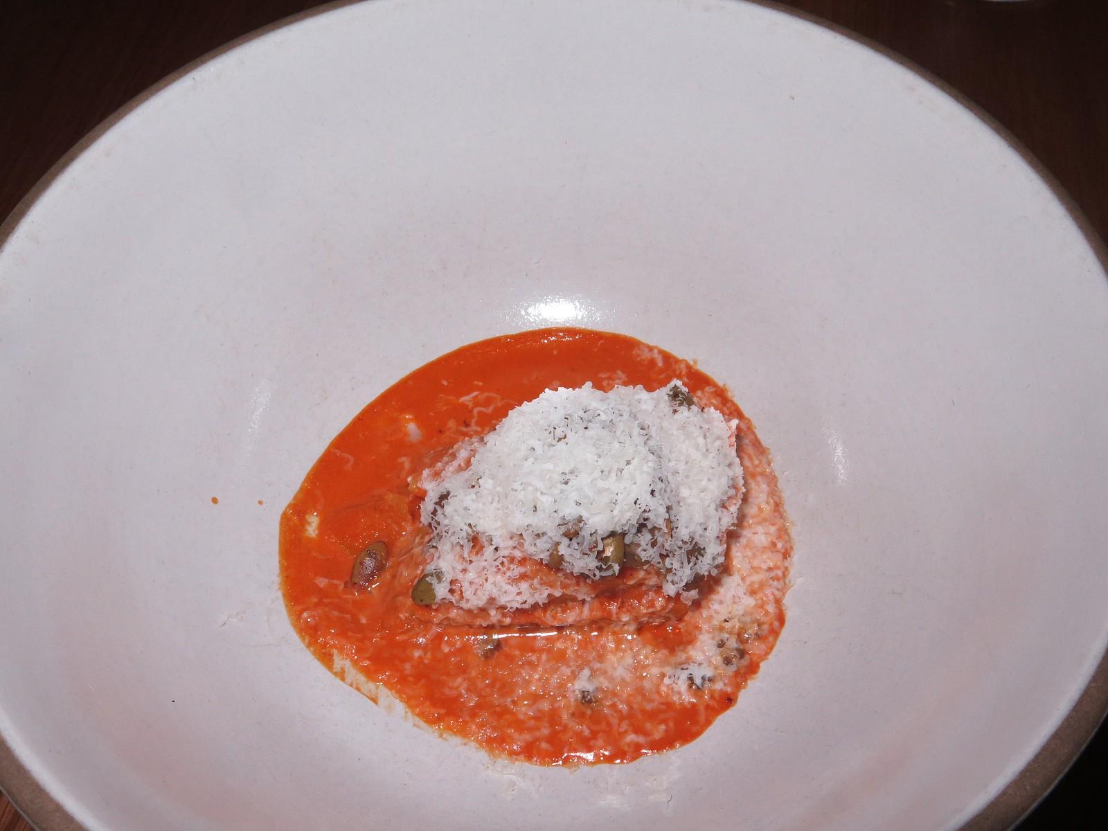 Honeynut squash tamal, ha'sikil p'ak, castelrosso