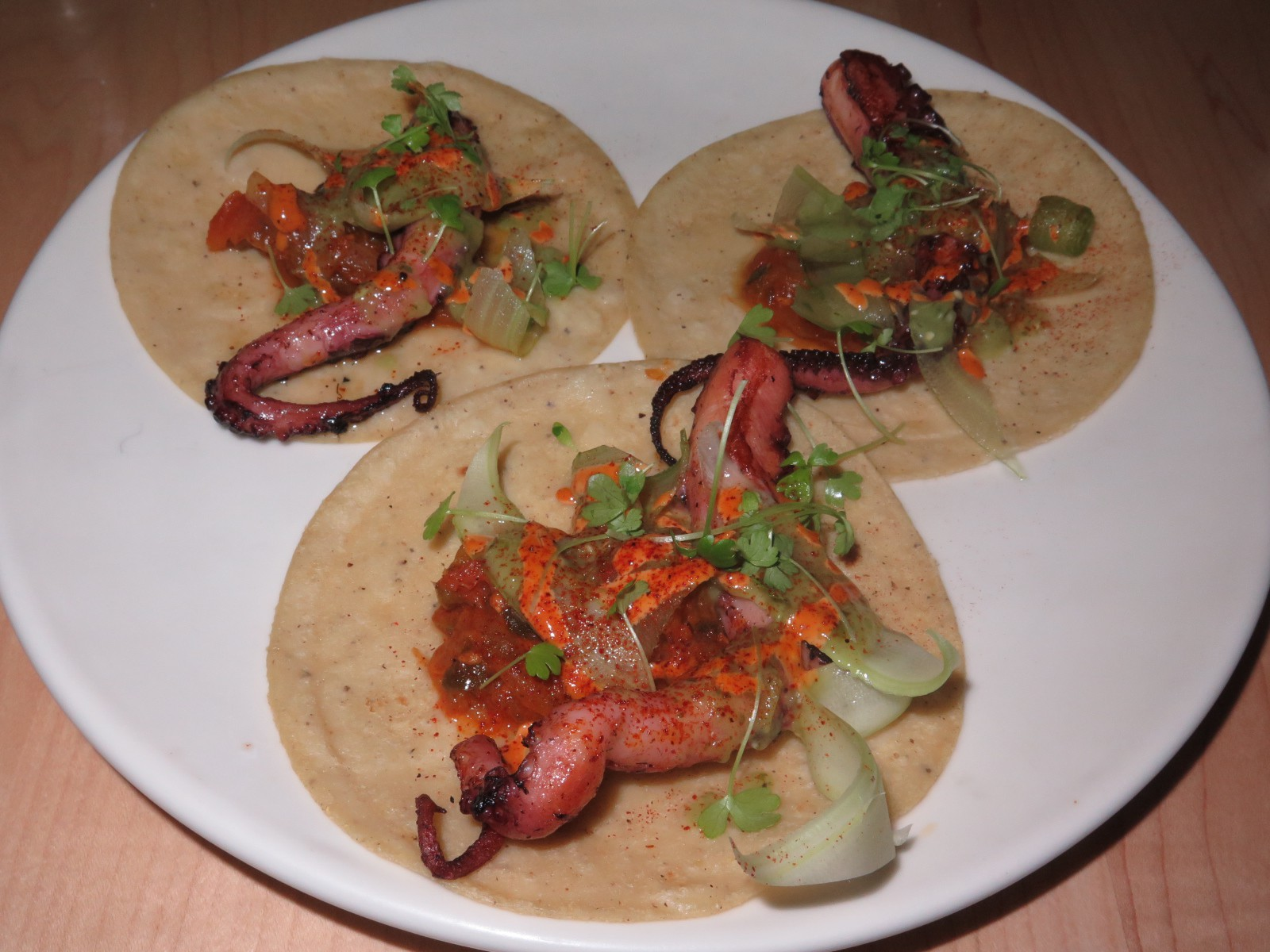 Octopus Tacos with Celery and Salsa Verde