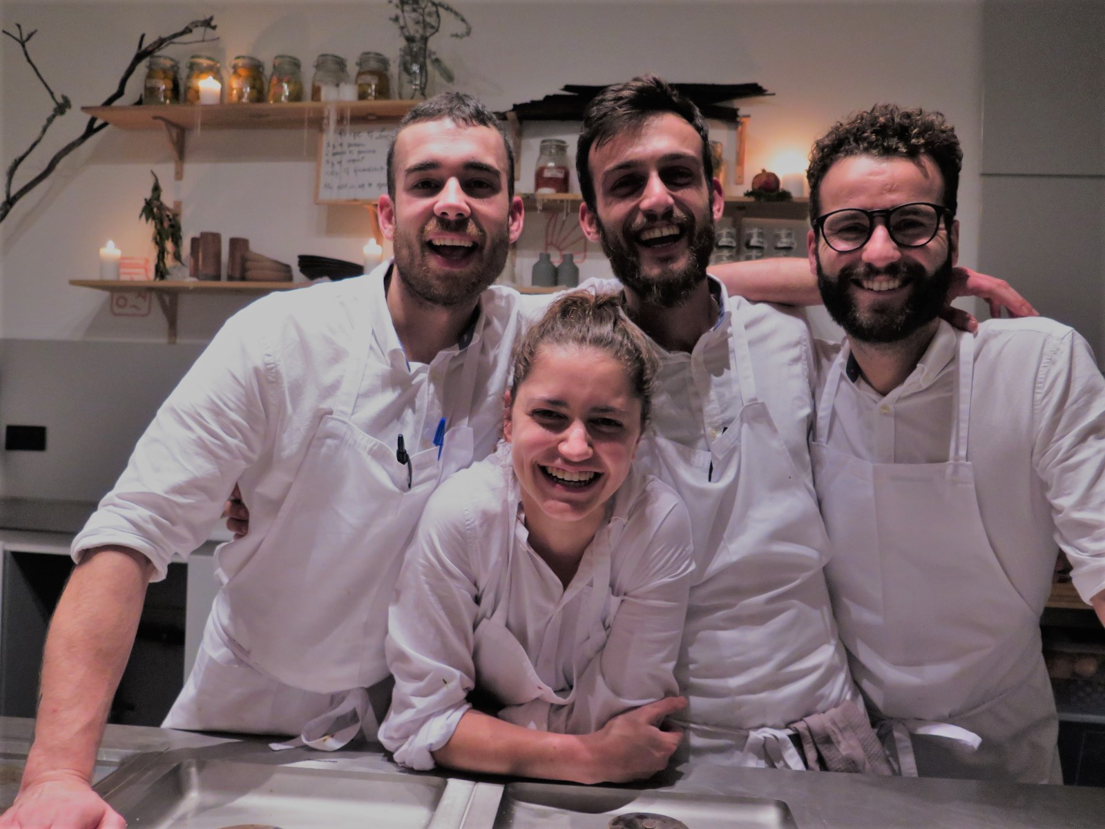 Os 4 jovens chefes do ONA AT THE MUSEUM: Iñaki Bolumburu, Mariana Schmidt, Edgar Bettencourt e Micael Duarte
